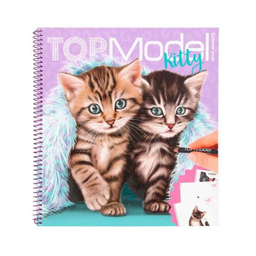 Depesche Top Model Create Your Kitty Colouring Book