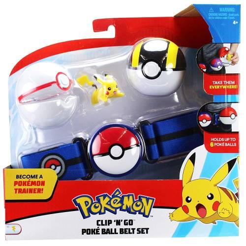 Pokemon Clip 'n' Go Pokeball Belt Set - Pikachu