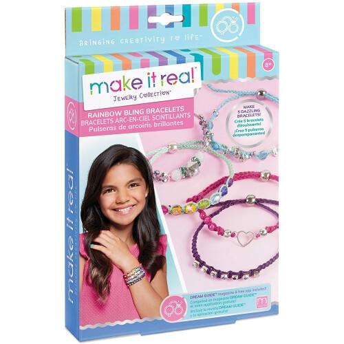 Make It Real - Rainbow Bling Bracelets