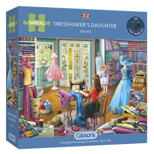 Gibsons Dressmaker's Daughter 500pc XL Puzzle