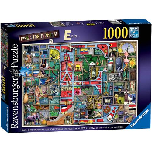 Ravensburger 1000pc Puzzle Awesome Alphabet E