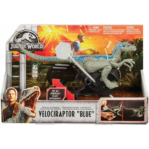 "Jurassic World Rip-Run Dinos - Velociraptor ""Blue"""