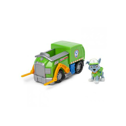 Paw Patrol Basic Vehicle with Pup - Rocky Recycle Truck