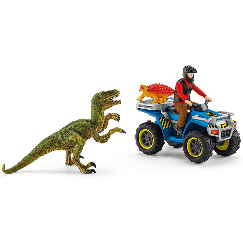 Schleich 41466 Quad Escape From Velociraptor Dinosaurs