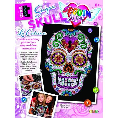Sequin Art Ltd. Sequin Art Teen Craft Sugar Candy Skull 1613