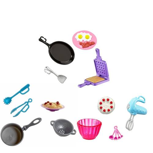 Barbie Mini Kitchen Accessories - All 3 Sets