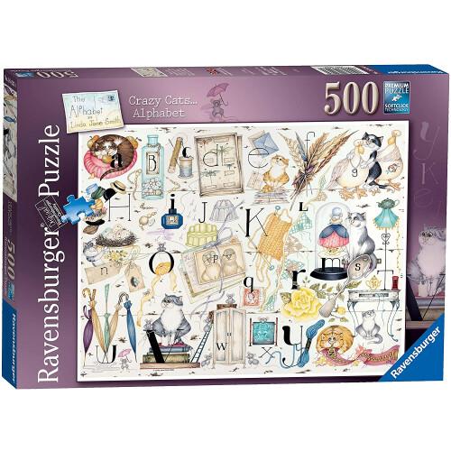 Ravensburger 500pc Puzzle Crazy Cats Alphabet