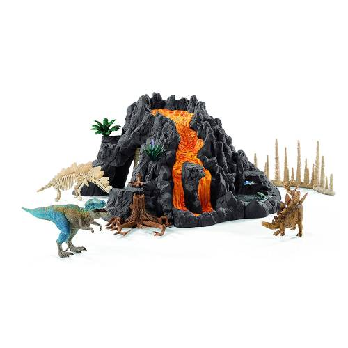 Schleich 42305 Giant Volcano with T-Rex
