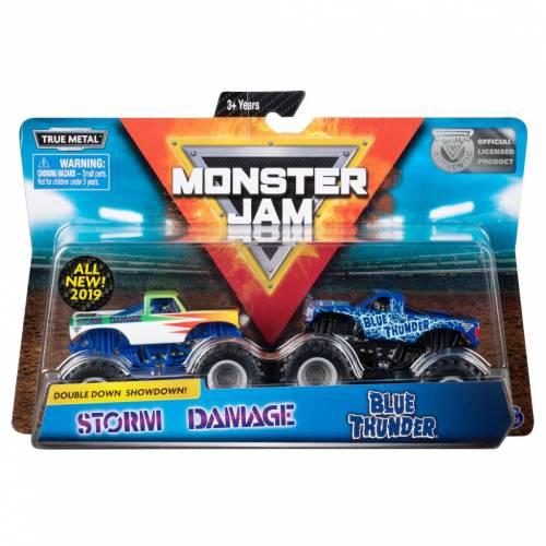 Monster Jam - 2 Pack - Storm Damage vs Blue Thunder