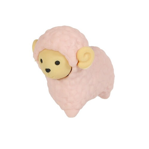 Iwako Puzzle Eraser - Sheep and Alpaca - Sheep (Pink)
