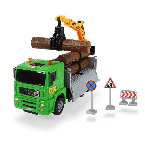 Dickie Toys Heavy City Truck - Log Transporter