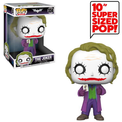 Funko Pop Vinyl - Batman The Dark Knight Trilogy - The Joker 334 (Super Sized Pop)