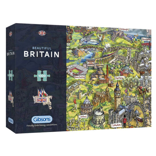 Gibsons Beautiful Britain 1000pc Puzzle