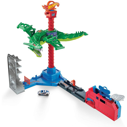 Hot Wheels City vs Robo Beasts - Air Attack Dragon