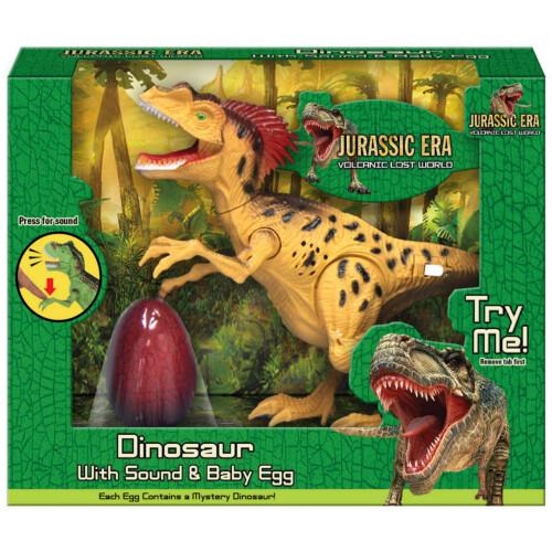Jurassic Era Dinosaur with Sound & Baby Egg - Yellow