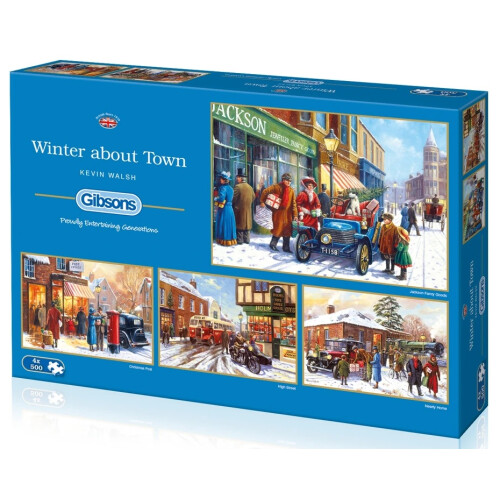 Gibsons Winter about Town 4x 500pc Puzzles
