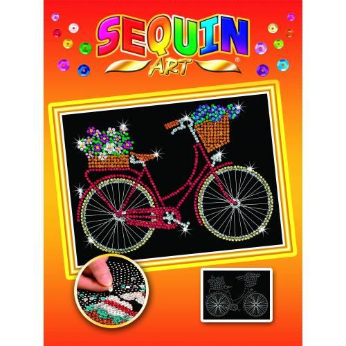 Sequin Art Orange Bicycle 1716