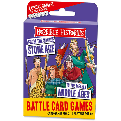 Horrible Histories Battle Card Games - Savage Stone age To the Middle Ages