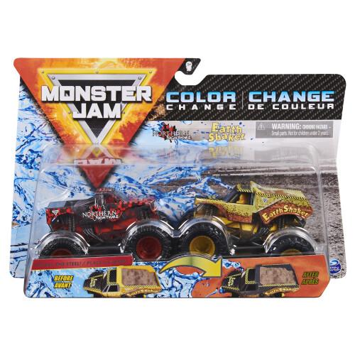 Monster Jam 1:64 Colour Change 2 Pack - Northern Nightmare vs Earthshaker