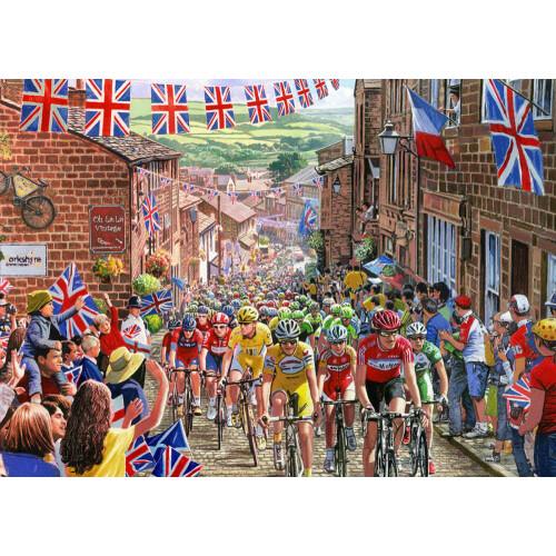 Gibsons 1000 Piece Jigsaw Puzzle - Le Tour De Yorkshire