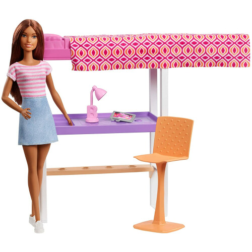 Barbie Loft Bed With Transforming Bunk Beds Playset