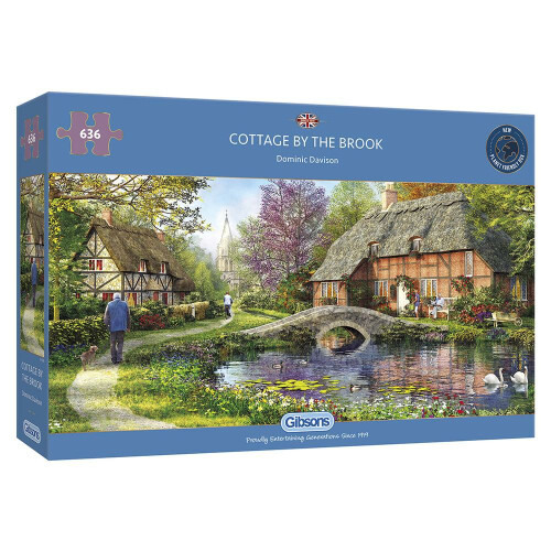 Gibsons Cottage By The Brook 636pc Puzzle