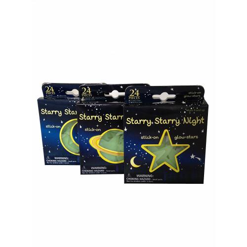 Glow In The Dark Moon & Stars