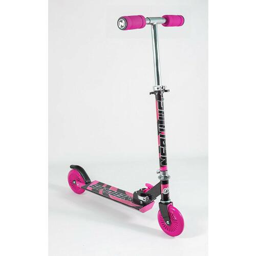 Nebulus Folding Scooter - Black & Pink