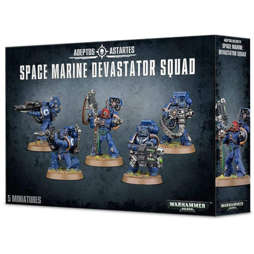 Warhammer 40,000 - Space Marine Devastator Squad