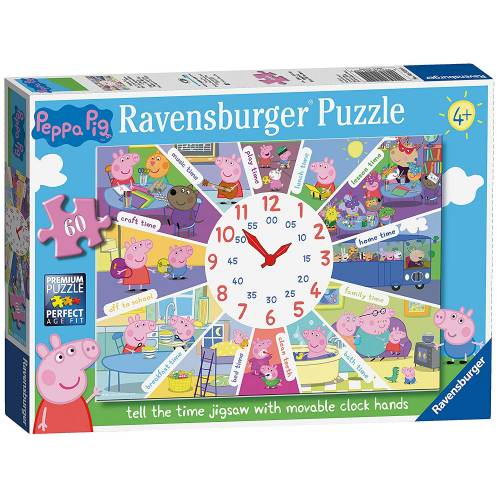 Ravensburger 60pc Peppa Pig Tell The Time Clock Puzzle
