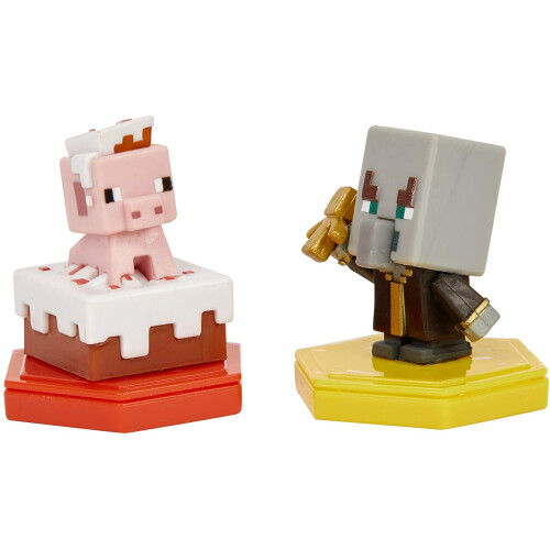 Minecraft Earth Boost Mini Figure 2 Pack - Pigging Out Pig & Undying Evoker