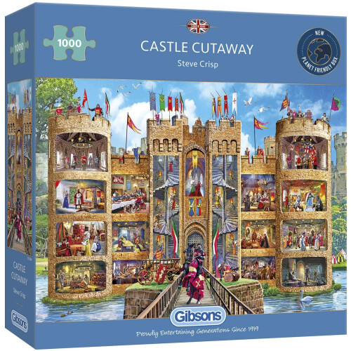 Gibsons Castle Cutaway 1000pc Puzzle