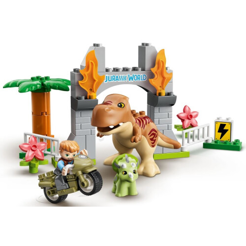 Lego 10939 Duplo T. rex and Triceratops Dinosaur Breakout