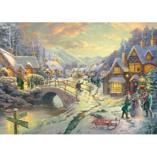 Gibsons Thomas Kinkade Snowfall at Sundown 1000pc
