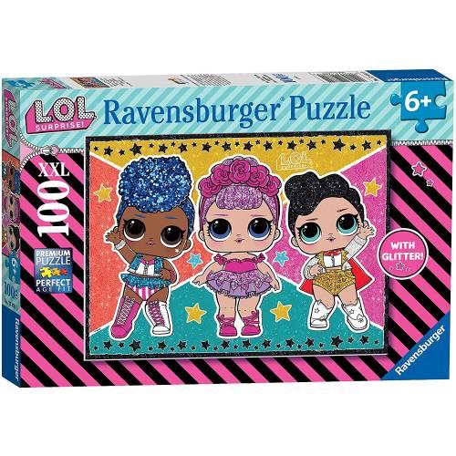Ravensburger 100 XXL Piece Puzzle L.O.L. Surprise with Glitter