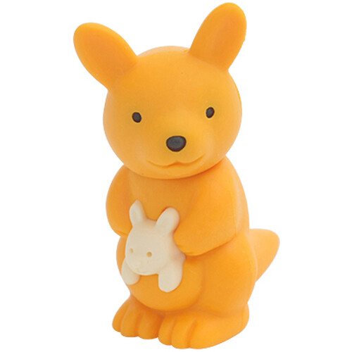 Iwako Puzzle Eraser - Wild Animals - Kangaroo (Orange)