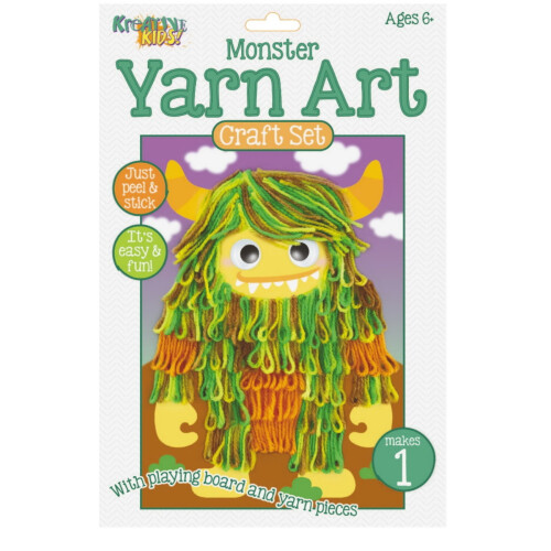 Kreative Kids - Yarn Art Craft Set Monster
