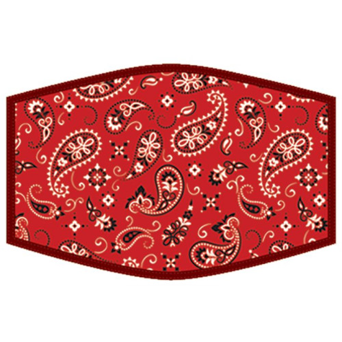 Washable Face Protector - Adult Size - Red Bandanna