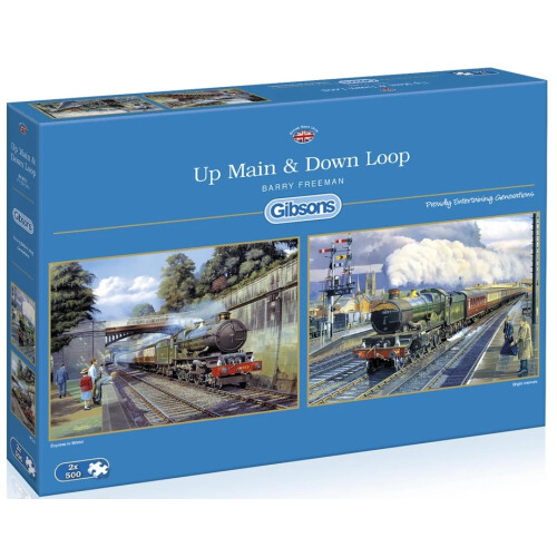 Gibsons Up Main & Down Loop 2x 500pc Puzzles