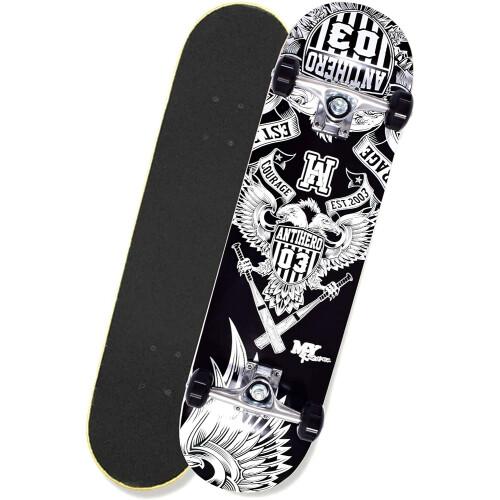"""M.Y X-Skate 31"""" Double Tilt End Skateboard - Antihero"""