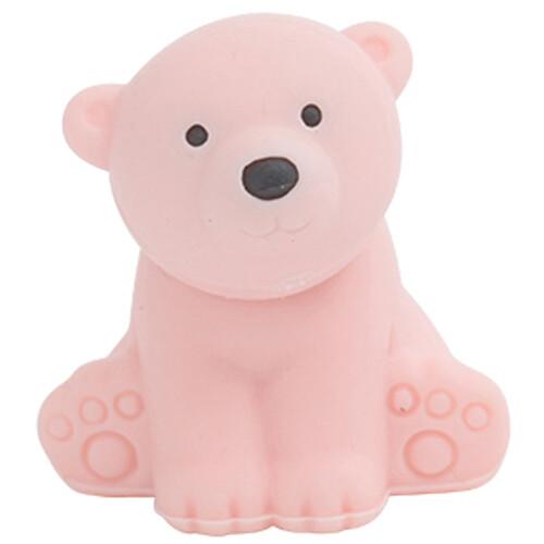 Iwako Puzzle Eraser - Wild Animals - Polar Bear (Pink)