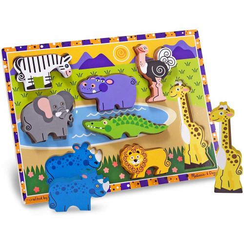 Melissa & Doug Wooden Chunky Puzzle Safari