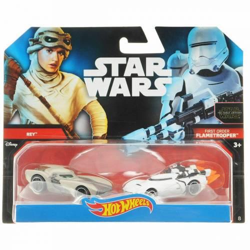Hot Wheels Star Wars Rey VS First Order Flametrooper