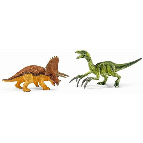 Schleich Dinosaurs 42217 Triceratops and Therizinosaurus
