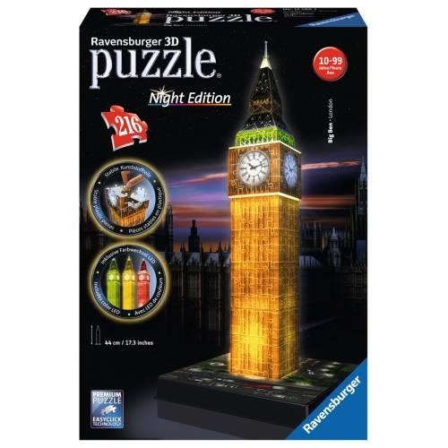 Ravensburger 216pc 3D Jigsaw Puzzle Big Ben Night Edition