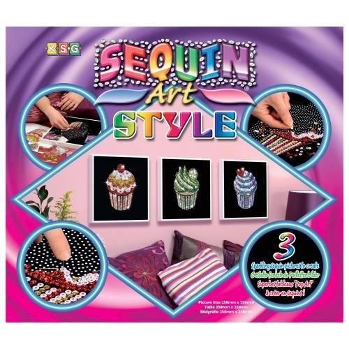 Sequin Art Ltd. Sequin Art Style Cupcakes 1204