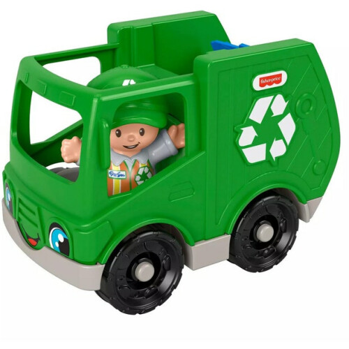 Fisher Price Little People Vehicle and Figure - Recycling Truck