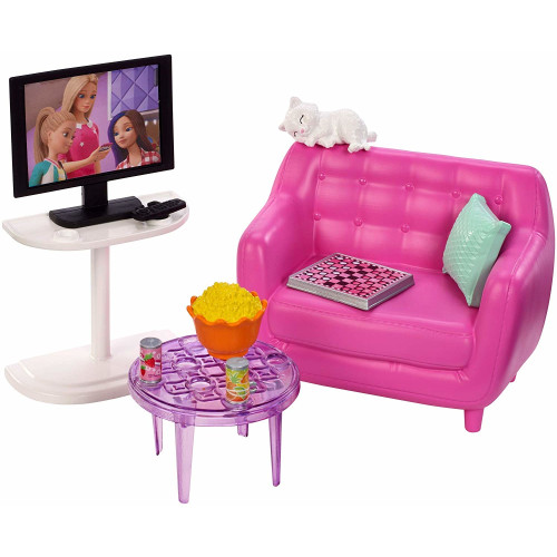 Barbie Accessory Pack - Living Room with Kitten