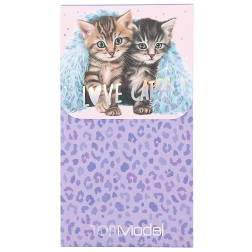 Depesche Top Model Notepad with Magnet Seal - Kittens