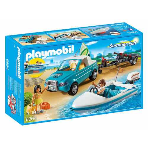 Playmobil 6864 Surfer Pickup with Speedboat and Underwater Motor